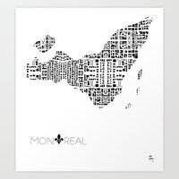 City of Pattern: Montreal Art Print
