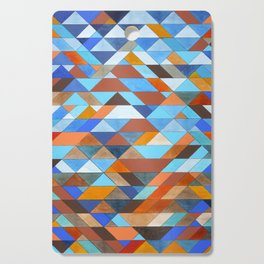 Triangle Pattern no.18 blue and orange Cutting Board