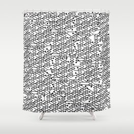 Microchip Pattern Shower Curtain