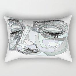 I'm waiting (blue) Rectangular Pillow