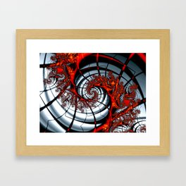 Fractal Art - Burning Web Framed Art Print