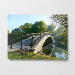 Bridge In the Park 2 Metal Print