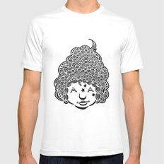 Smiling is good for you. Mens Fitted Tee SMALL White