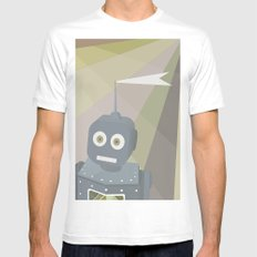 Robot Mens Fitted Tee White MEDIUM