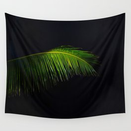 Single Tropical Palm Tree Branch Leaf Wall Tapestry
