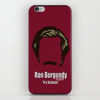 anchorman iPhone & iPod Skins featuring Ron Burgundy: Anchorman by BC Arts