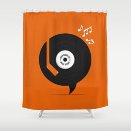 Music Speaks Shower Curtain