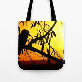Kookaburra Silhouette Solstice Sunset Tote Bag