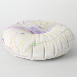 Modern pastel lavender purple yellow marble pattern Floor Pillow