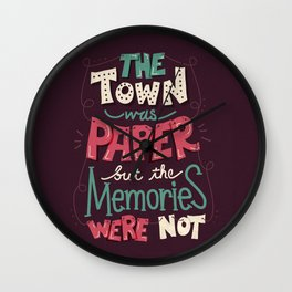 Paper Towns: Town and Memories Wall Clock