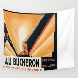 Vintage poster - Au Bucheron Wall Tapestry