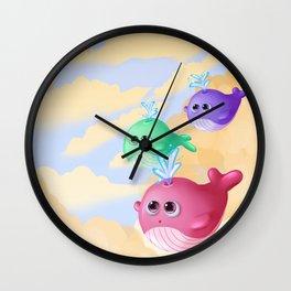 Tiny whales Wall Clock