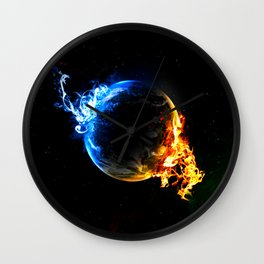 Earth Opponents Wall Clock