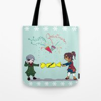 kuroshitsuji Tote Bags featuring Ciel and Soma's Xmas by neko-productions