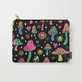 Rainbow Mushrooms Carry-All Pouch