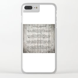 The Four Agreements Clear iPhone Case