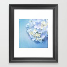 BABY BLUE FLOWER DREAM Framed Art Print