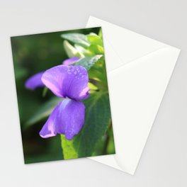 Purple Snap Dragon Flowers Stationery Cards