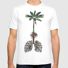 Breathe Mens Fitted Tee SMALL White