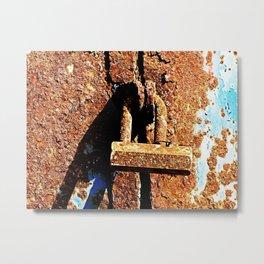 Rustic Lock Metal Print