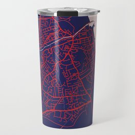 Bray, Ireland, Blue, White, City, Map Travel Mug