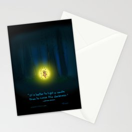 Forest Candle Firefly  Stationery Cards