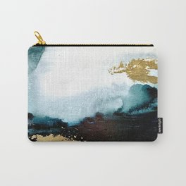 Gold and Teal Landscape Carry-All Pouch