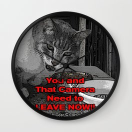 You Need to Leave Now (All Over Print)   Monster Kat Gear Wall Clock
