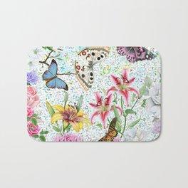 Magical Butterfly Flower Garden Bath Mat