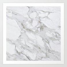White Marble 01 Art Print
