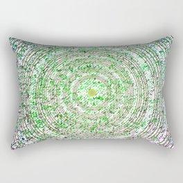 Green Dot Rectangular Pillow