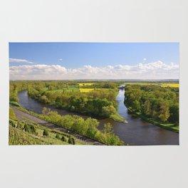 Czech sunny spring landscape Rug
