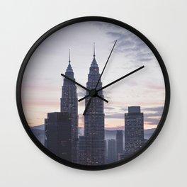 Kuala Lumpur in the dawn Wall Clock