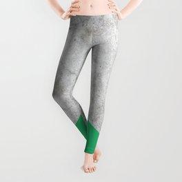 Geometric Concrete Arrow Design - Green #175 Leggings