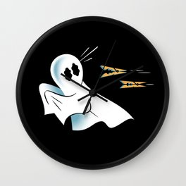 A Fearful Phantom (Black) Wall Clock