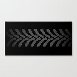 Black Tyre Marks Canvas Print
