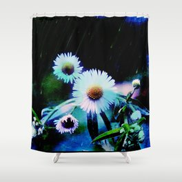 Asters Aglow Shower Curtain