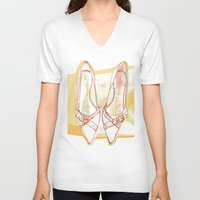 shoes V-neck T-shirts featuring Shoes by Sabine Israel