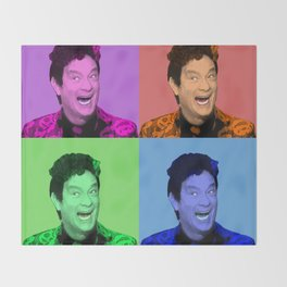 David S. Pumpkins - Any Questions? - Pop Art Throw Blanket