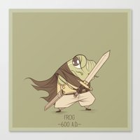 frog Canvas Prints featuring Frog by Kristoffer Vela