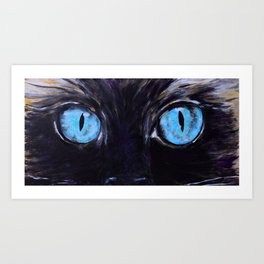 Sass: The Eyes of a Long-Haired Cat Art Print
