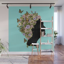 Floral Lady Wall Mural