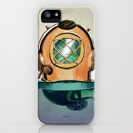 Fish in diving iPhone Case