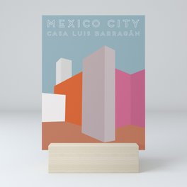 Mexico City, Casa Luis Barragán Travel Poster Mini Art Print