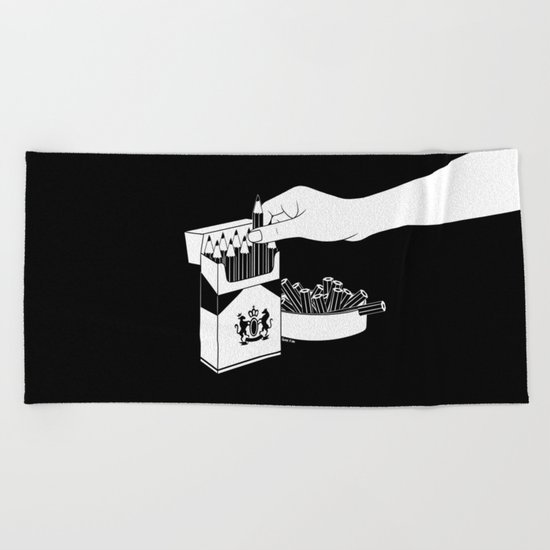 Art Addiction Beach Towel