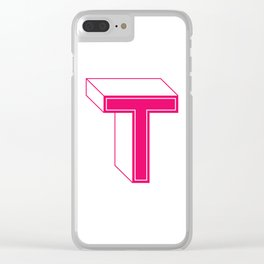 Letter T Clear iPhone Case