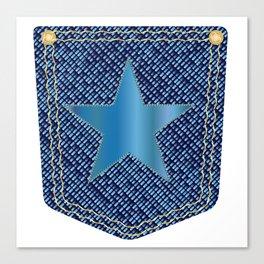 Star Denim Pocket Canvas Print