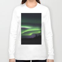 northern lights Long Sleeve T-shirts featuring Northern Lights by Pamela Barron