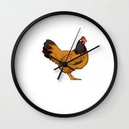 Funny I Love Little Peckers Hen Chicken Gift Chicken Print Wall Clock