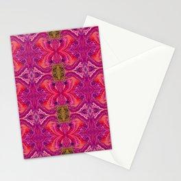 Acrylic Pour Pattern (Orange/Pink) Stationery Cards